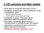 4 he outcomes and labor market
