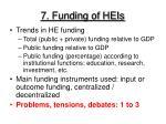 7 funding of heis