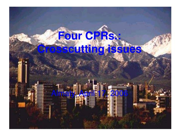 four cprs crosscutting issues n.