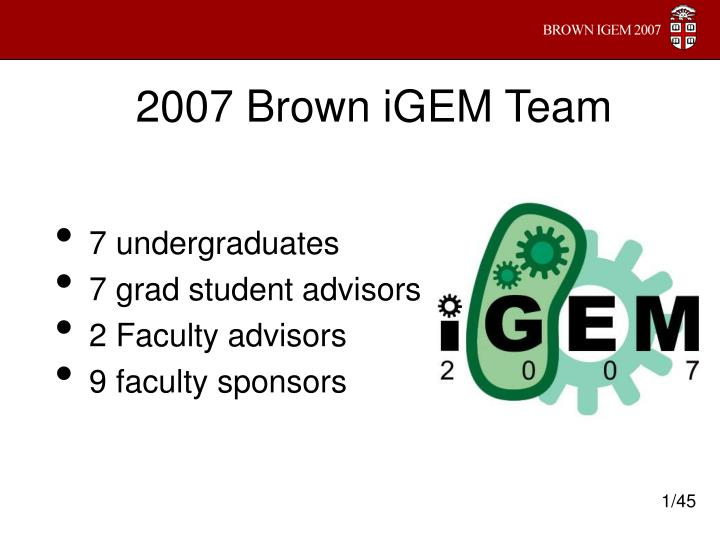 2007 brown igem team n.