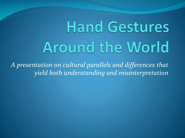 hand gestures around the world n.