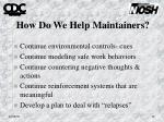 how do we help maintainers