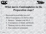 what moves contemplators to the preparation stage
