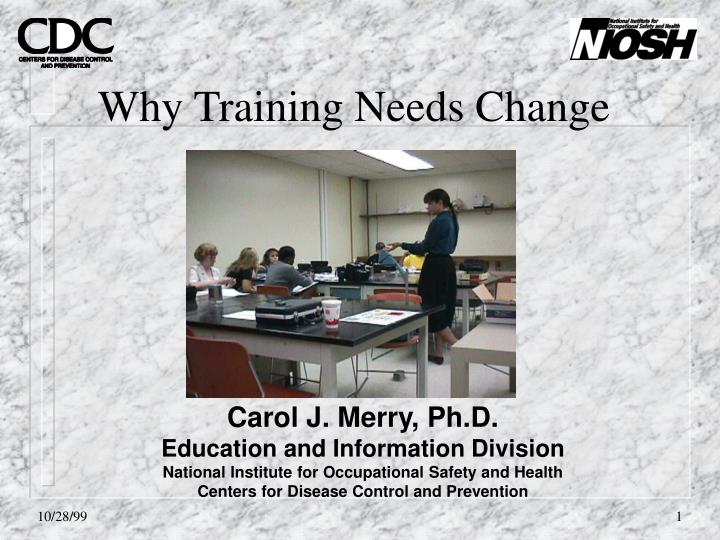 why training needs change n.
