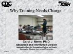 why training needs change