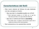 caracter sticas del ext3