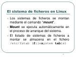 el sistema de ficheros en linux1