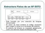 estructura f sica de un sf ext2