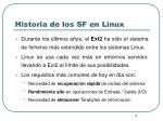 historia de los sf en linux1
