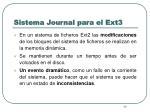 sistema journal para el ext3