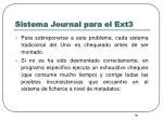 sistema journal para el ext31
