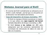 sistema journal para el ext310