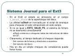 sistema journal para el ext32