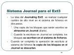 sistema journal para el ext33