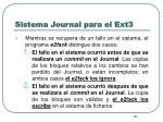sistema journal para el ext34