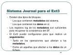 sistema journal para el ext36