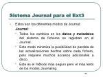 sistema journal para el ext37