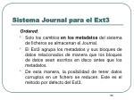 sistema journal para el ext38