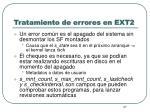 tratamiento de errores en ext21