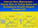 internet now mainstream steady rise in online sales and broadband growth despite nasdaq fall