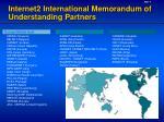 internet2 international memorandum of understanding partners