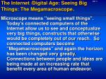 the internet digital age seeing big things the megamacroscope