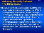visioning broadly defined the microscope
