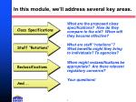 in this module we ll address several key areas