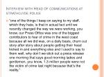 interview with head of communications at strathclyde police