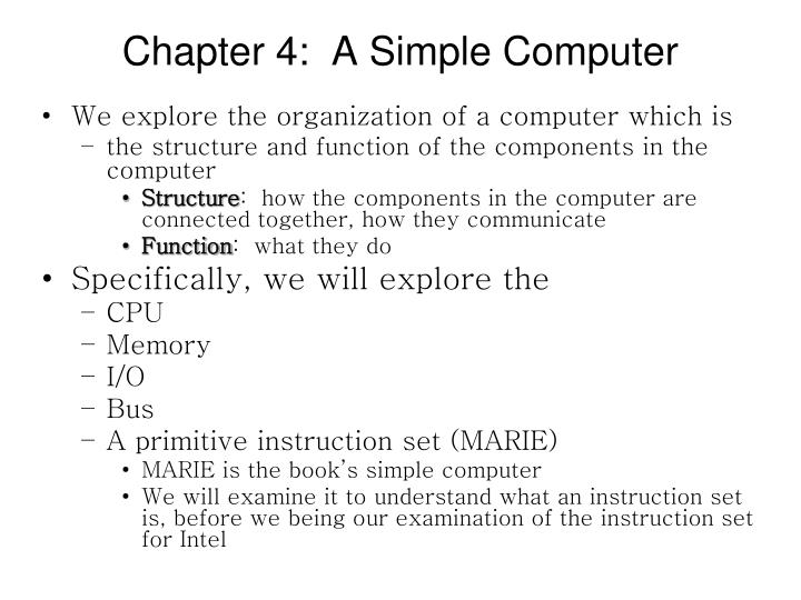 chapter 4 a simple computer n.