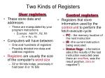 two kinds of registers