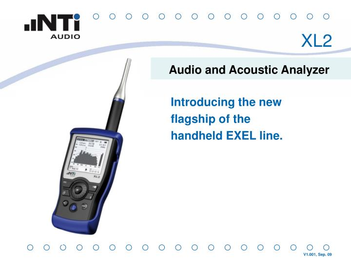 audio and acoustic analyzer n.