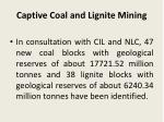 captive coal and lignite mining