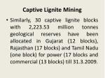 captive lignite mining