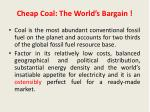 cheap coal the world s bargain