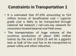 constraints in transportation 1