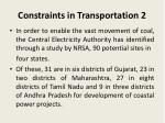 constraints in transportation 2