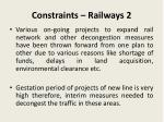 constraints railways 2
