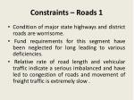 constraints roads 1