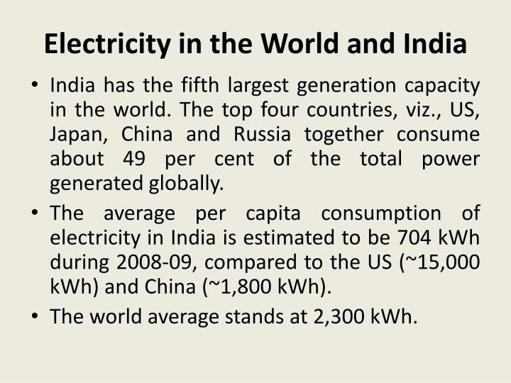 electricity in the world and india n.