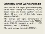 electricity in the world and india