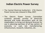 indian electric power survey