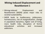 mining induced displacement and resettlement 1