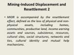 mining induced displacement and resettlement 2