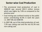 sector wise coal production