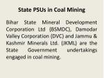 state psus in coal mining