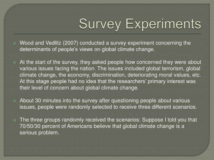 Survey Experiments