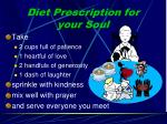 diet prescription for your soul