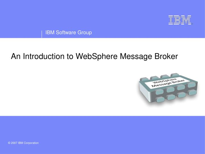 an introduction to websphere message broker n.