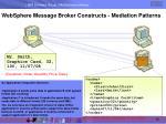websphere message broker constructs mediation patterns